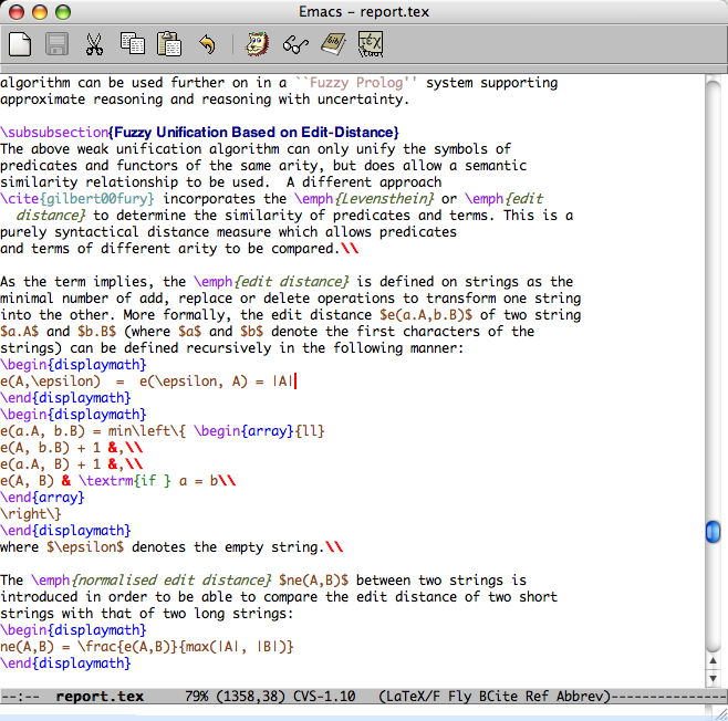 Emacs for your LaTeX editing needs on Mac OS X